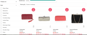 Thred Up website product page for handbags