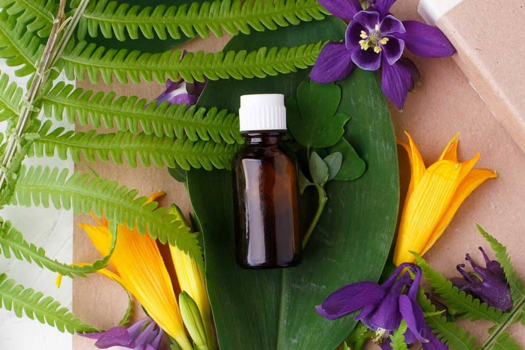 Natural organic essential oil packaging mock up with leaves and flowers, At What Age to Use Retinol? the Answer May Surprise You!