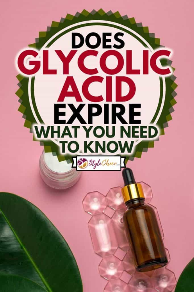 Cream jar, candles and glycolic acid bottle on a pink background skin and body care concept, Does Glycolic Acid Expire? Here's What You Need to Know