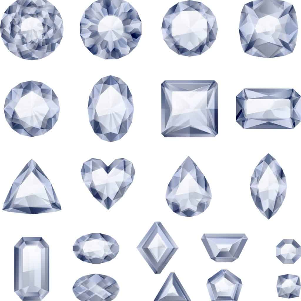 A detailed view of precision cut diamonds for jewelry