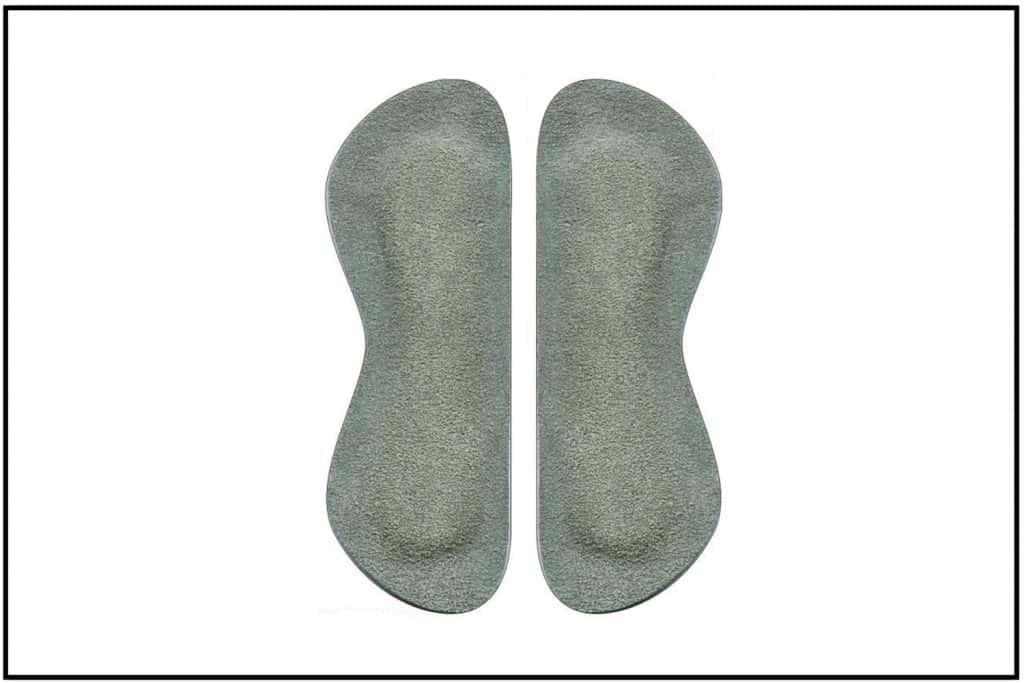 Orthopedic Insoles. Foot Care Products isolated on white background
