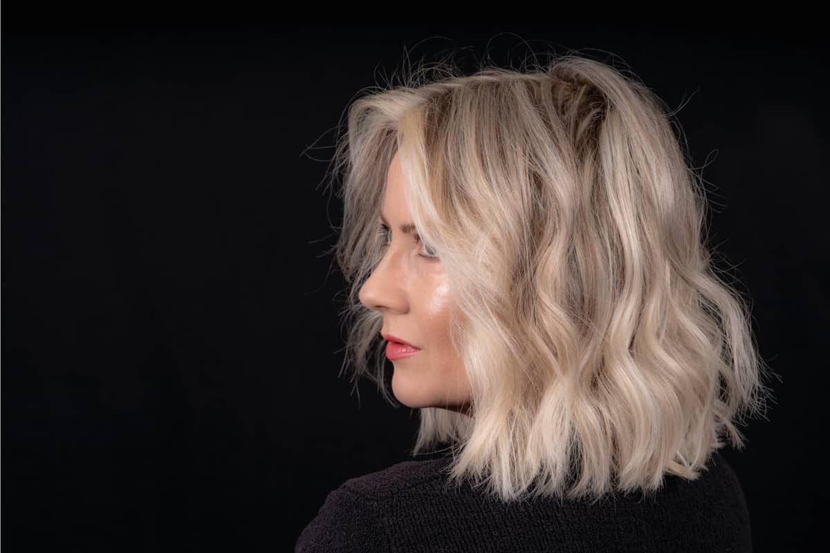 Woman With Blonde Mid Length Lob Hairstyle