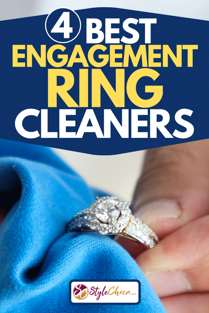 A jeweller hand polishing and cleaning jewelry diamond ring with micro fiber fabric, 4 Best Engagement Ring Cleaners