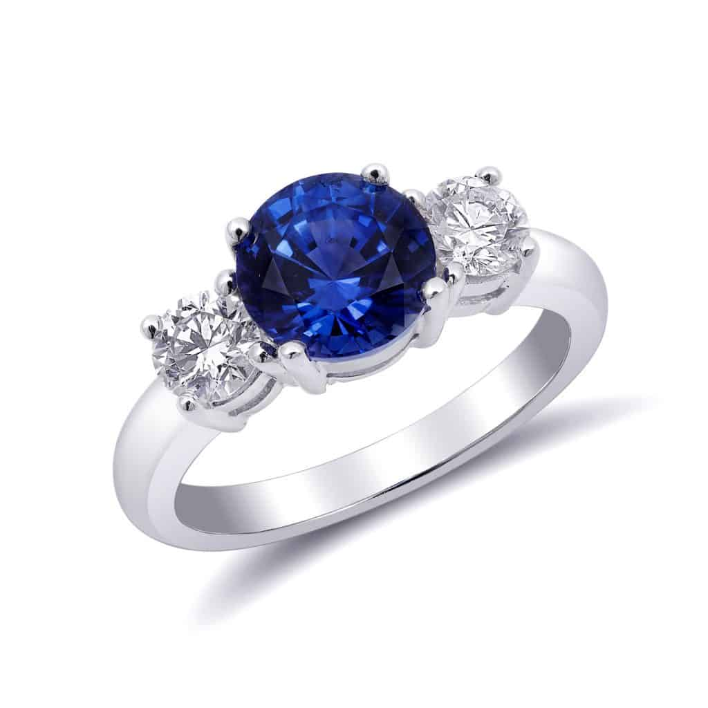 A gorgeous expensive blue sapphire ring