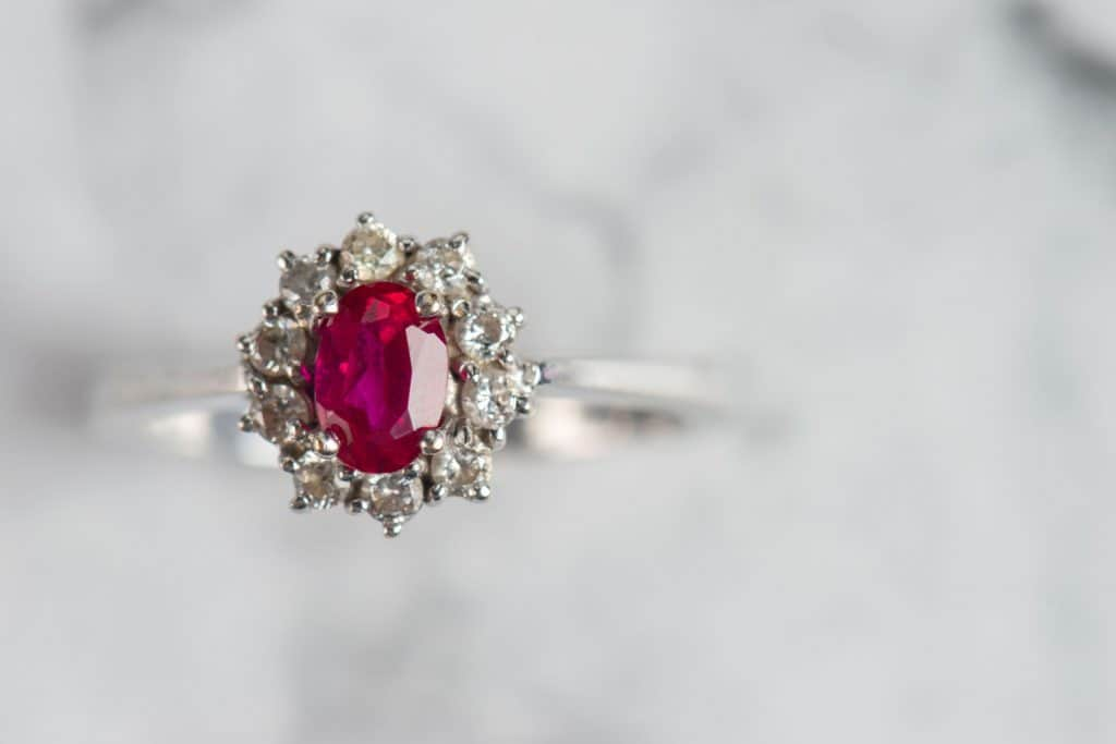 A luxurious ruby ring
