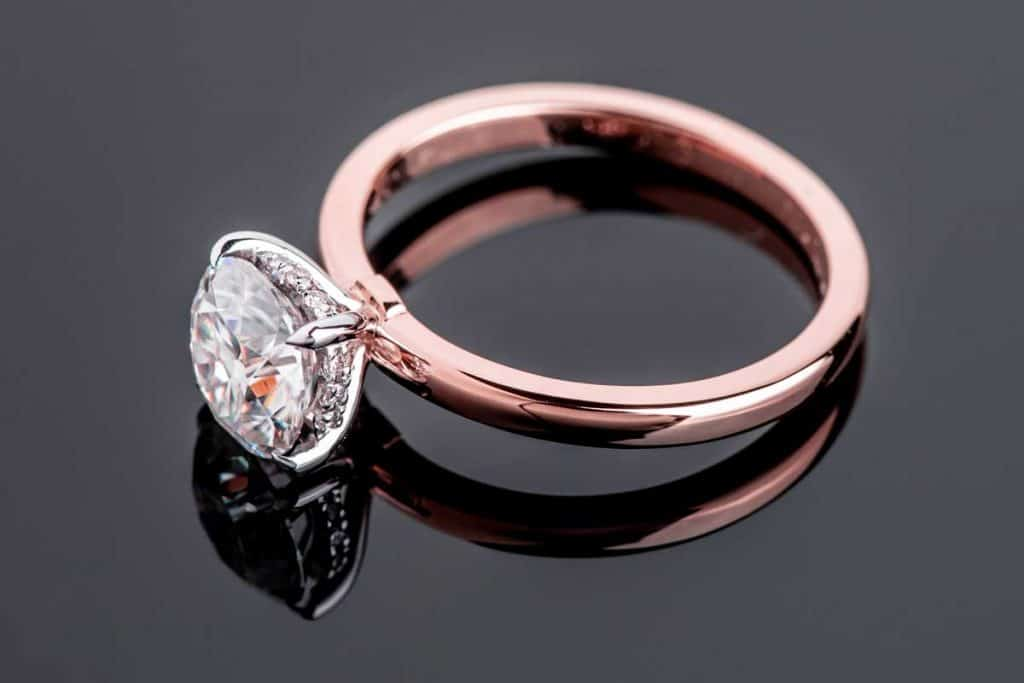 A rose gold diamond engagement jewelry ring, How Much Does It Cost To Re-Dip A Ring?