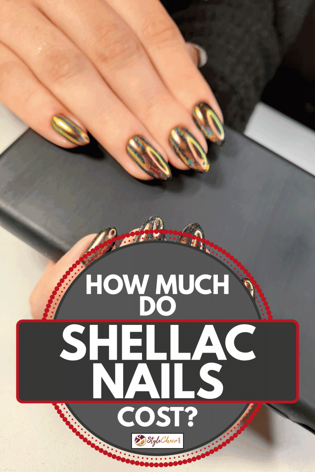 Bright iridescent gel polish shellac with multicolored highlights, How Much Do Shellac Nails Cost?
