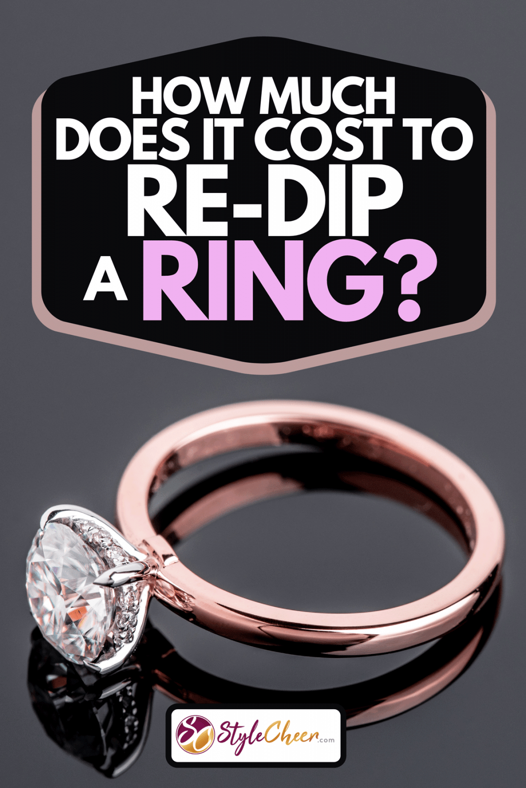 Rose gold diamond engagement jewelry ring, How Much Does It Cost To Re-Dip A Ring?
