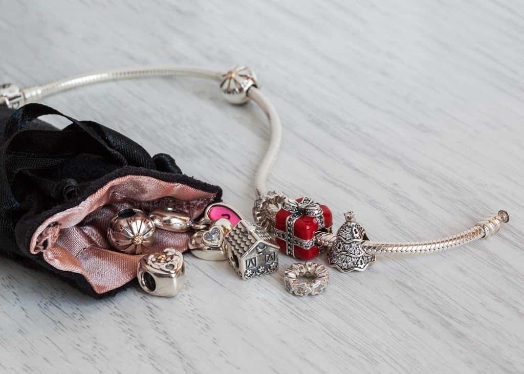 Pandora bracelet jewelry with pouch