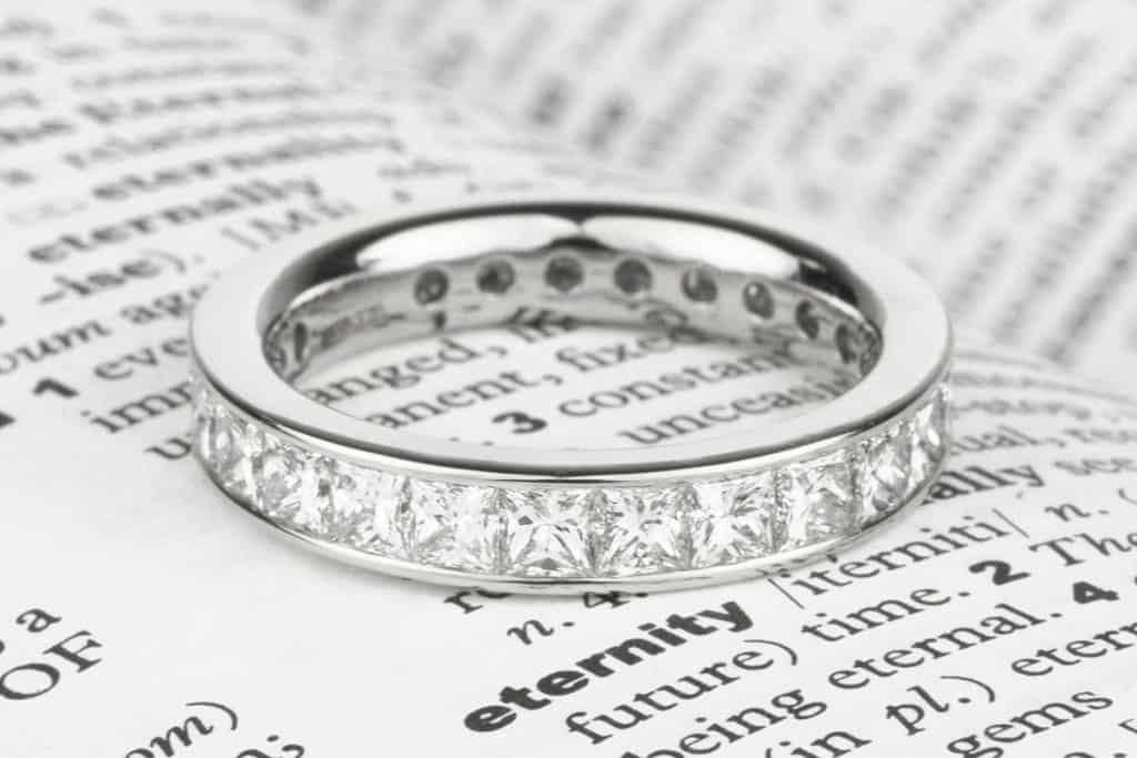 Princess cut diamond eternity ring, When Do You Get An Anniversary Band?