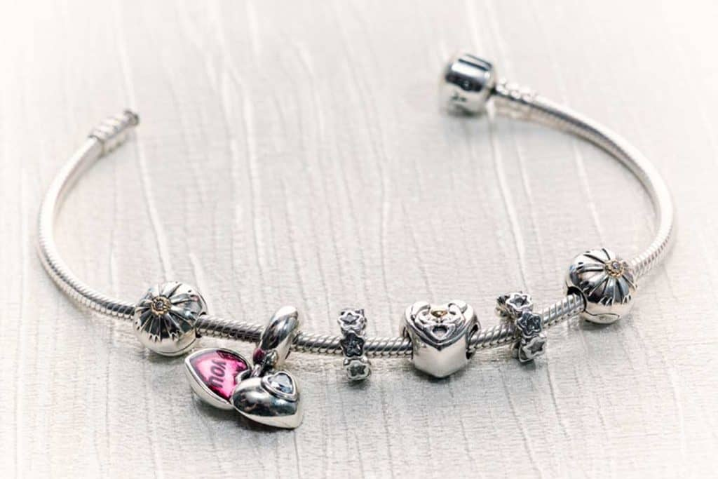 Retro style Pandora bracelet jewelry with charms, How To Clean Your Pandora Bracelet (Inc. DIY Home Solutions)
