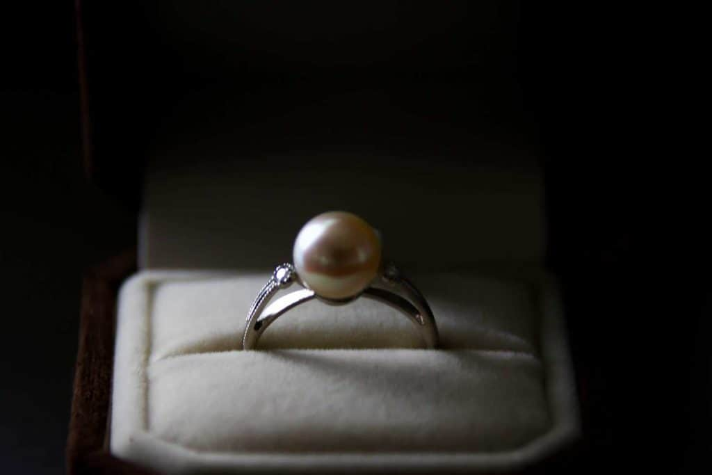 Wedding ring used at the wedding ceremony