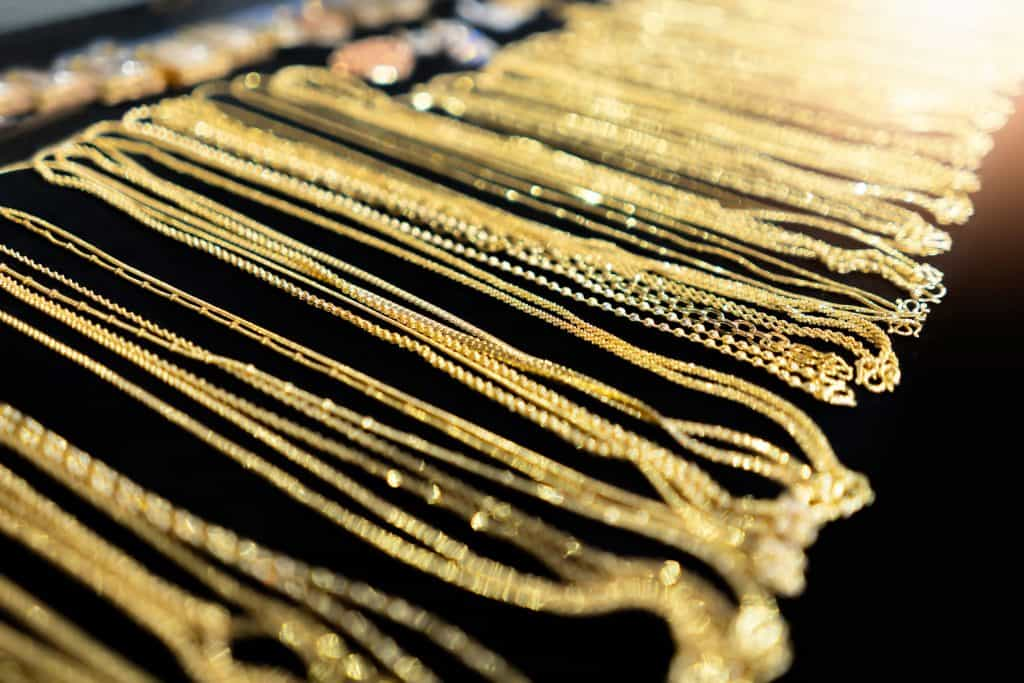 Gold necklace for sale As jewelry