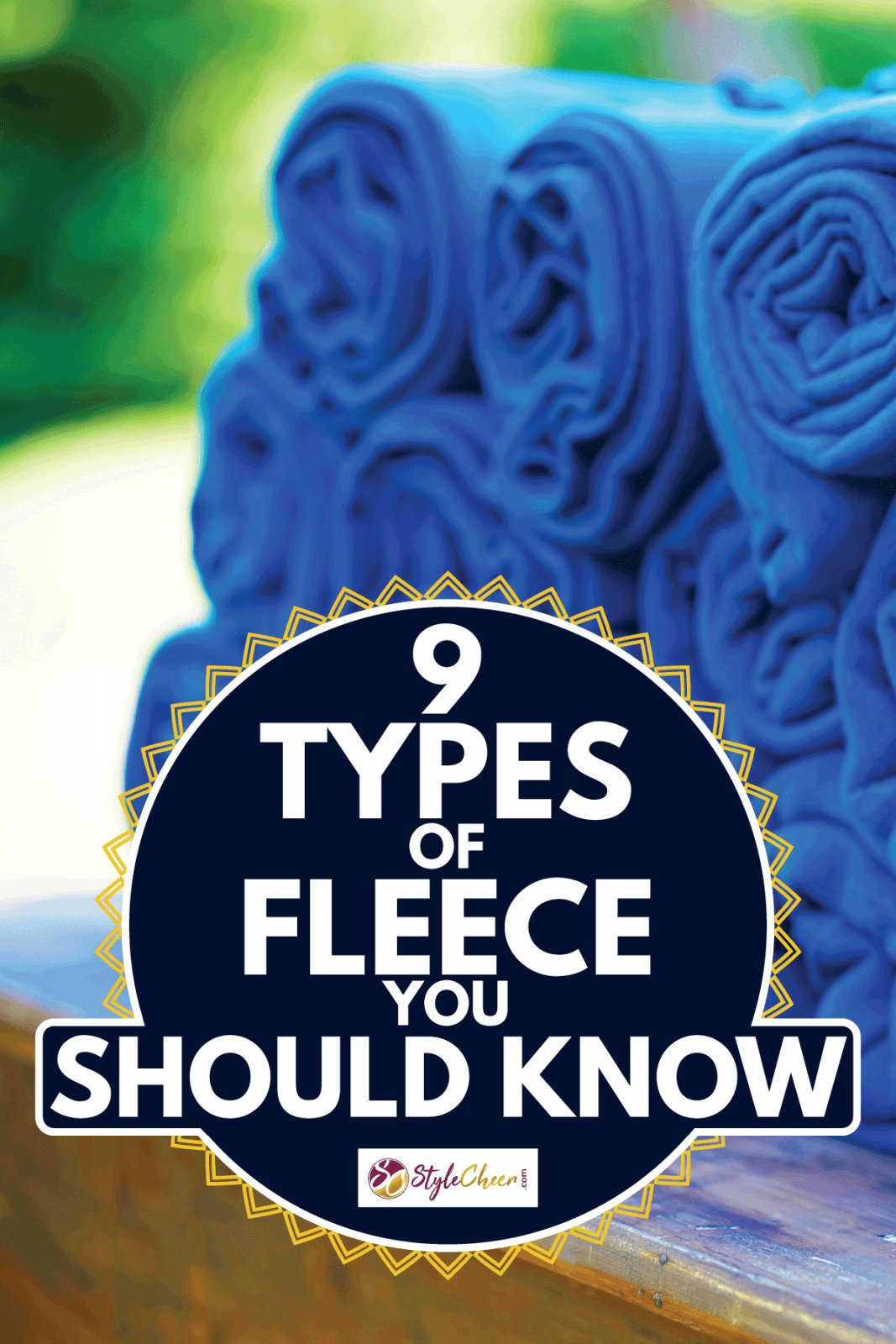 a set of rolled warm blue blankets at an open air party, 9 types of fleece you should know