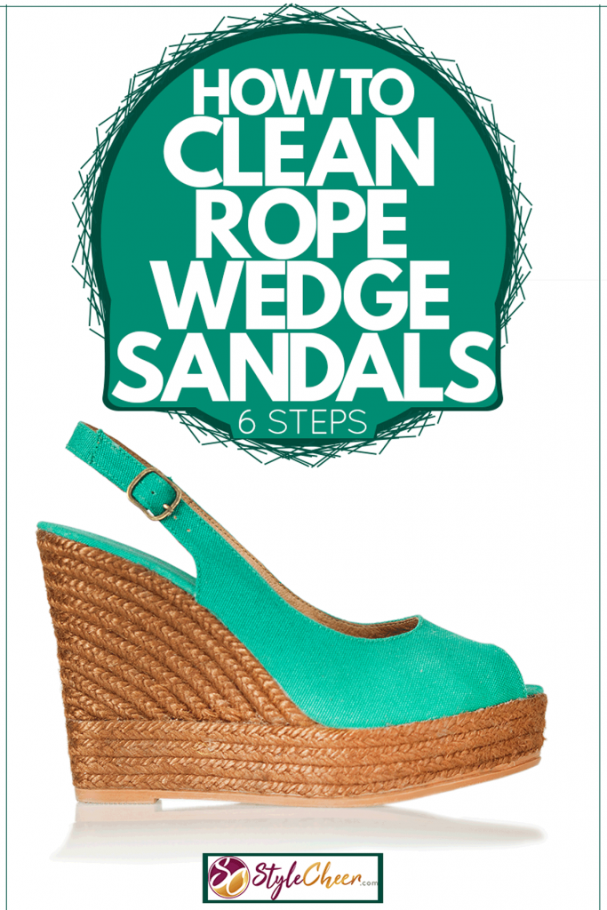 Women's wedge shoes with light blue green design, How To Clean Rope Wedge Sandals [6 Steps]