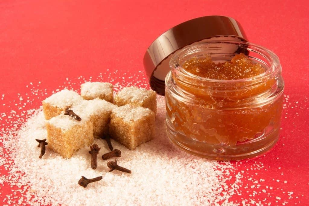 Body scrub with brown sugar,spiciness