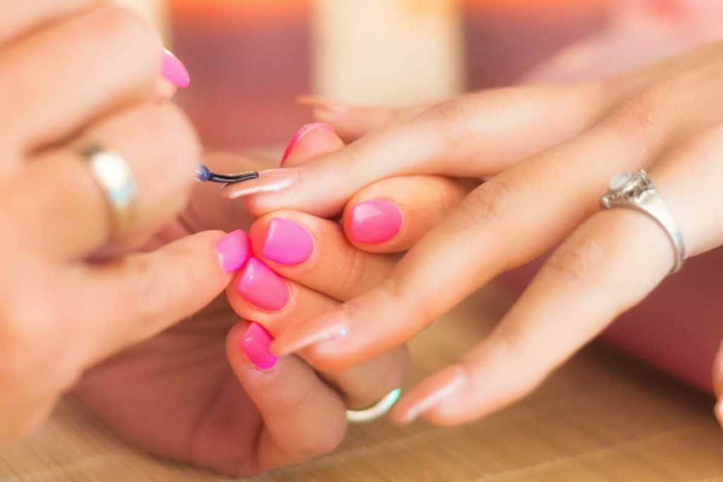 Manicure process in a professional beauty salon, making of artificial nails, How To Redo Acrylic Nails [8 Easy To Follow Steps!]