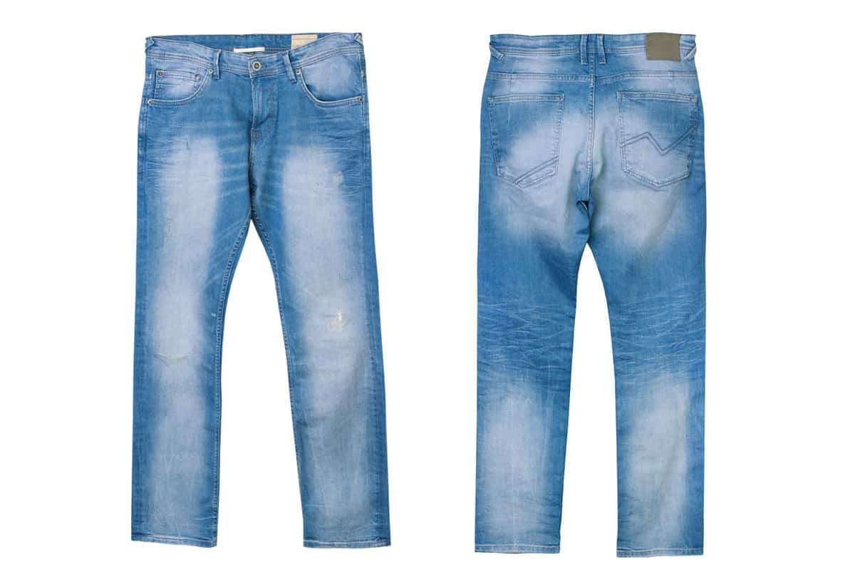 faded denim jeans for males