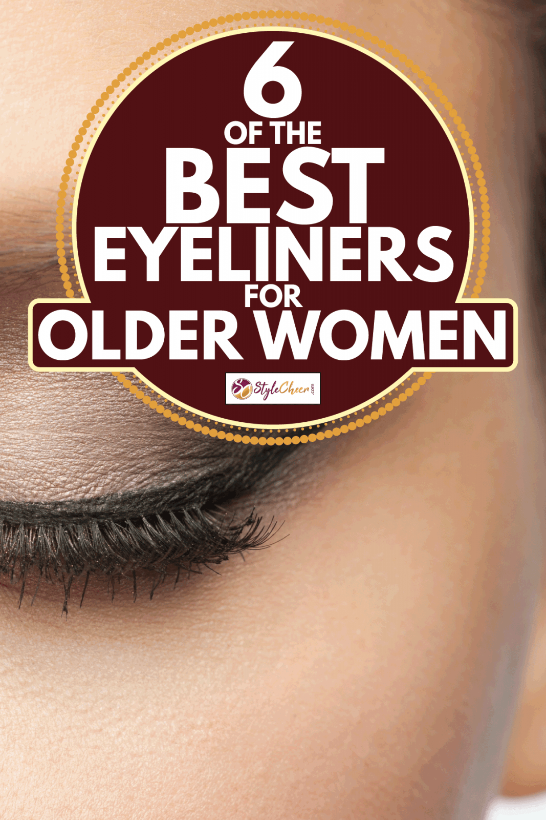 woman with eyes closed, eye makeup. 6 Of The Best Eyeliners For Older Women