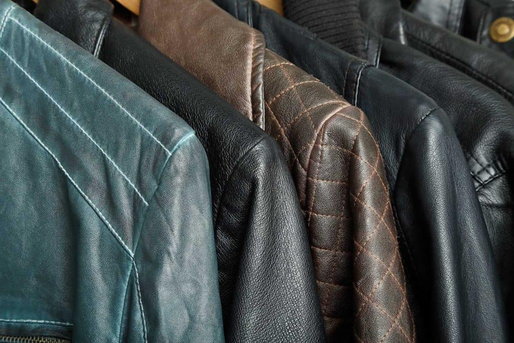 Variety of leather jackets