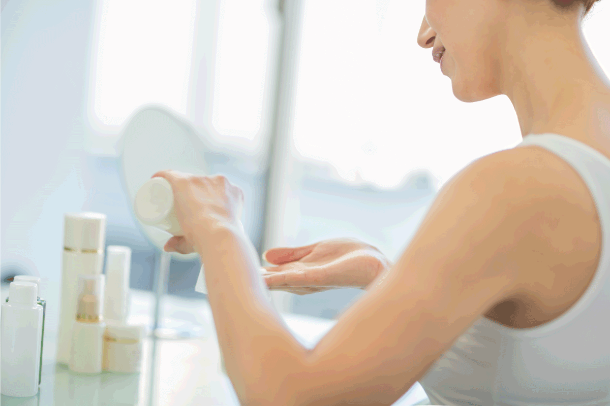 middle aged woman using cerave foaming facial cleanser. How To Use CeraVe Facial Cleansers