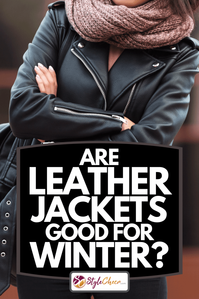A woman in black leather jacket walking in city street, Are Leather Jackets Good For Winter?