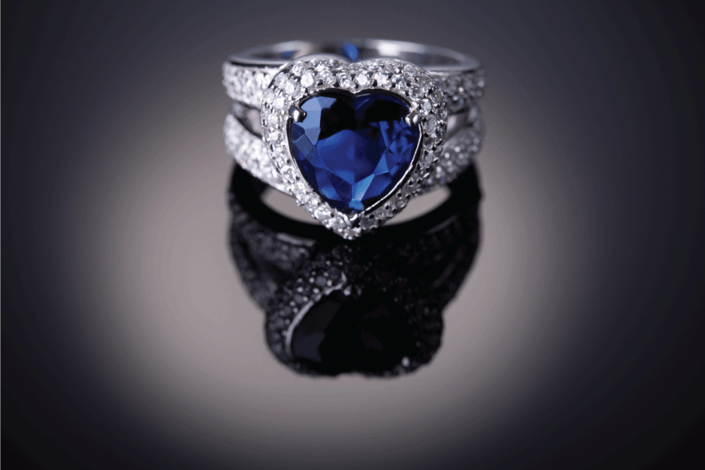 Elegance luxury ring with blue heart shaped sapphire. Sapphires Vs Diamonds For Engagement Ring - Which To Choose