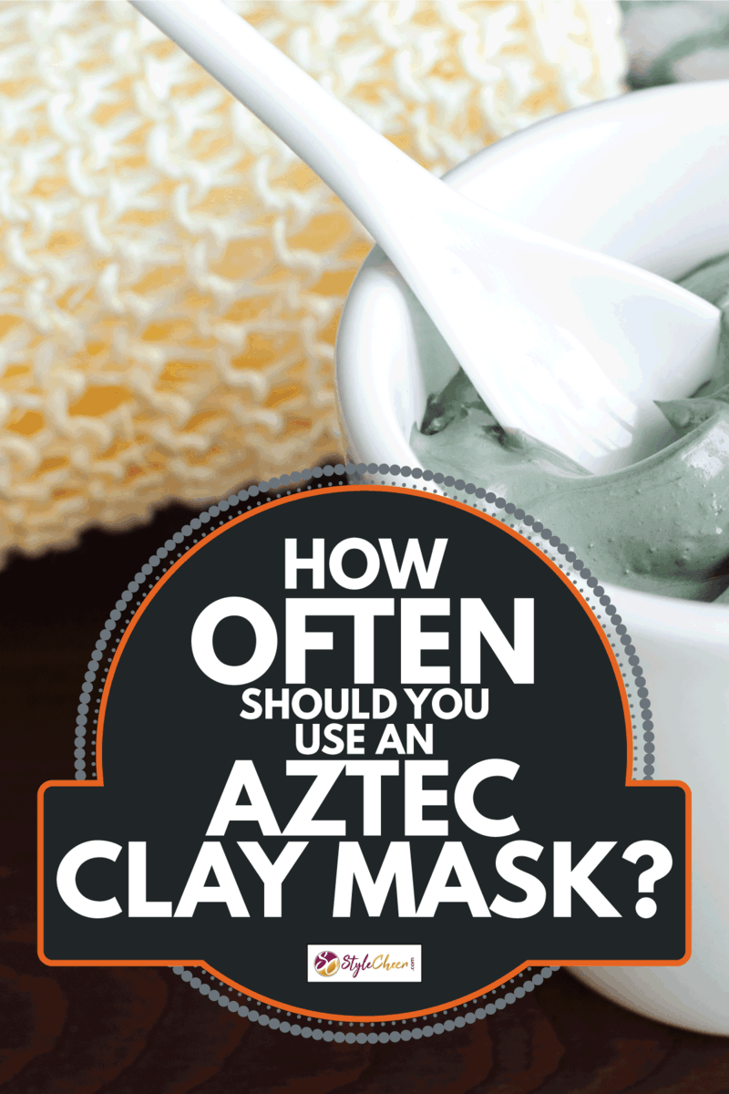 Grey cosmetic clay in a bowl. How Often Should You Use An Aztec Clay Mask