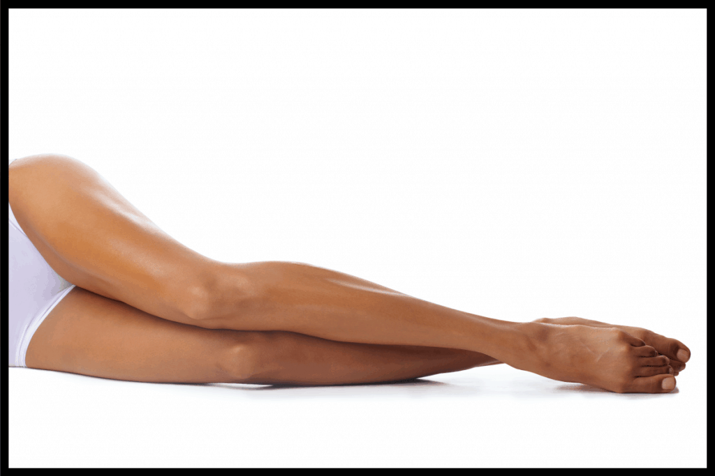 Lower-half-of-a-woman-lying-on-her-side.-Is-Electrolysis-Good-For-Dark-Skin