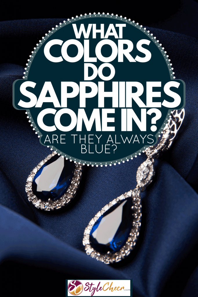 Two gorgeous sapphire with embedded diamonds on the frame, What Colors Do Sapphires Come In? Are They Always Blue?