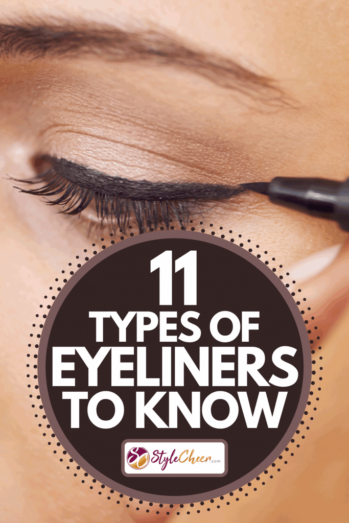 A close up of a young woman getting liner applied to her eyes, 11 Types Of Eyeliners To Know