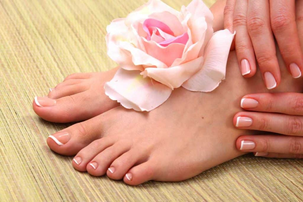 Close up photo of a beautiful female feet with pedicure, How To Keep Your Feet Soft After A Pedicure