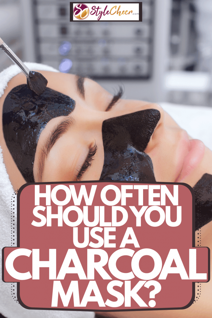 A woman getting her charcoal mask at the salon, How Often Should You Use A Charcoal Mask?