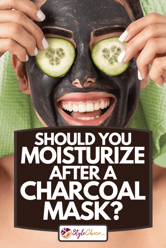 A happy smiling girl applying facial carbon mask, Should You Moisturize After A Charcoal Mask?