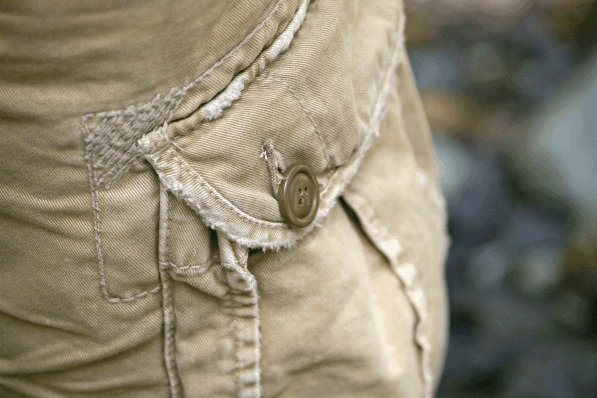 close up photo of the pocket of cargo pants