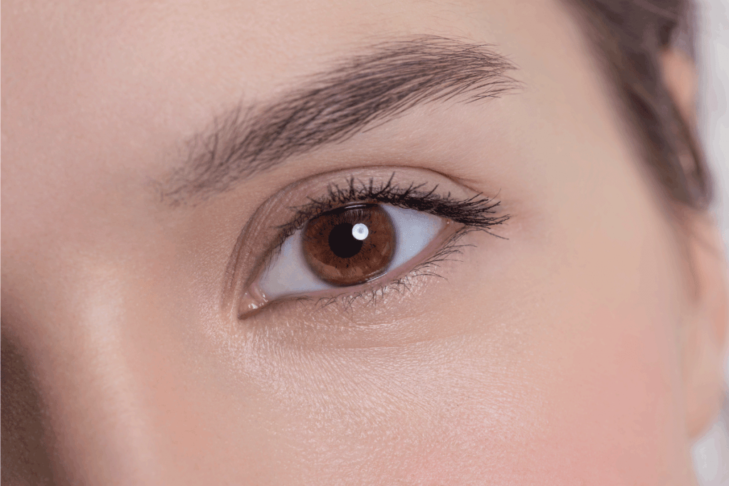 Brown eye of an attractive young adult woman. What Color Lipstick Goes With Hazel Eyes
