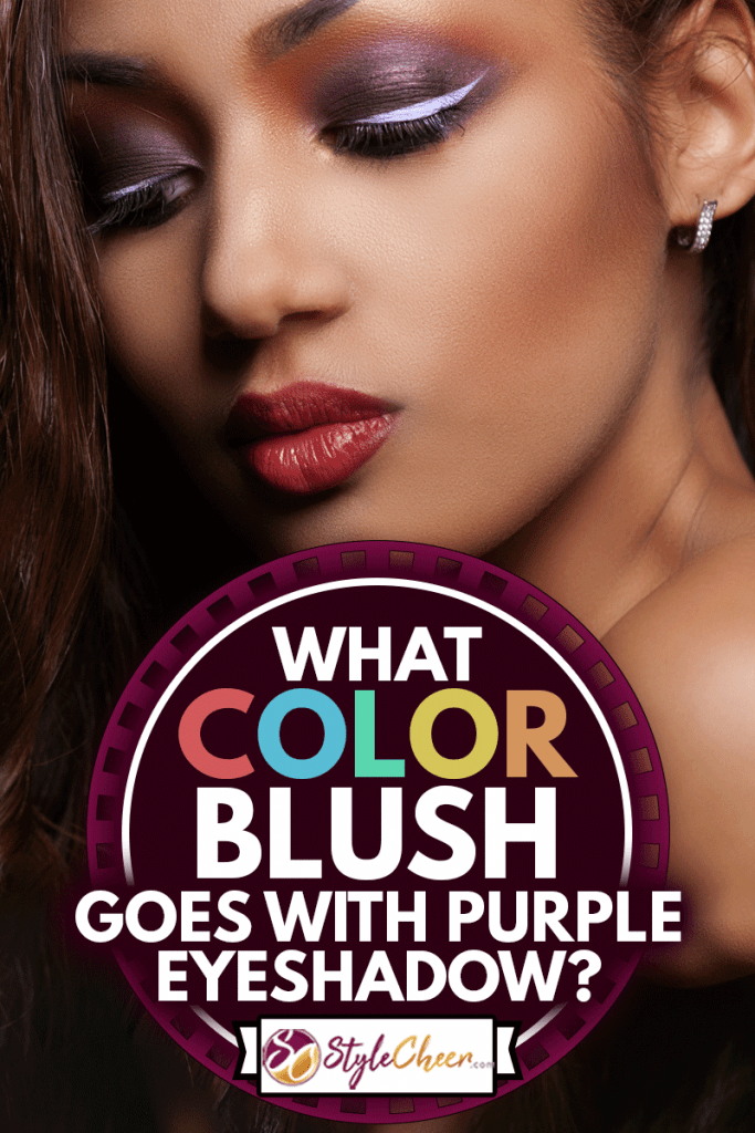 Fashion young African woman with plum blush and purple eyeshadow, What Color Blush Goes With Purple Eyeshadow?