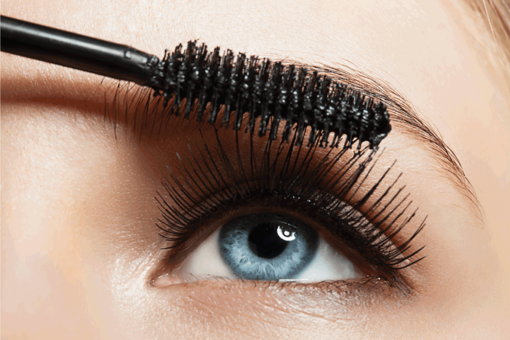 make-up gray eye with long lashes with black mascara. What Color Eyeshadow Goes With Grey Eyes