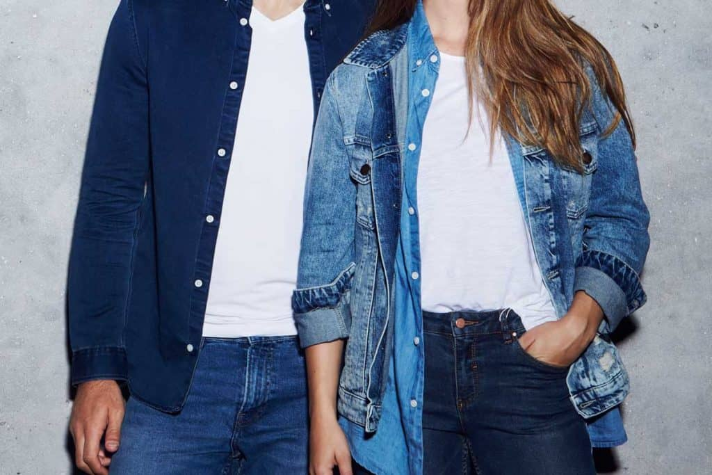Couple wearing denim jacket and jeans, Can You Wear A Denim Jacket With Jeans?