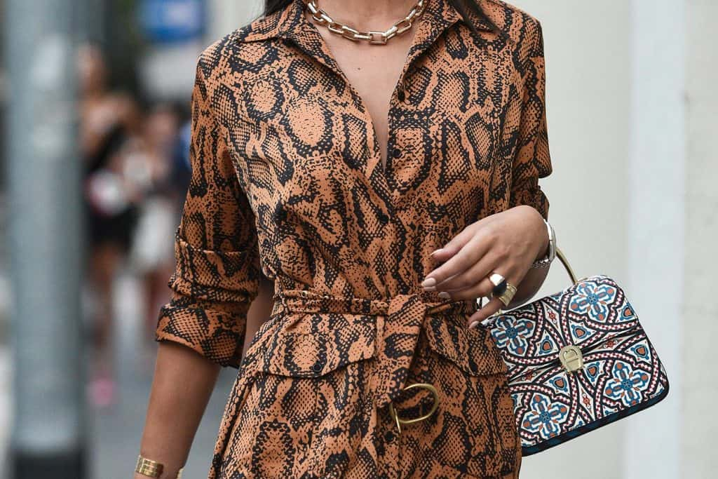 Street style outfits in detail during Milan fashion week