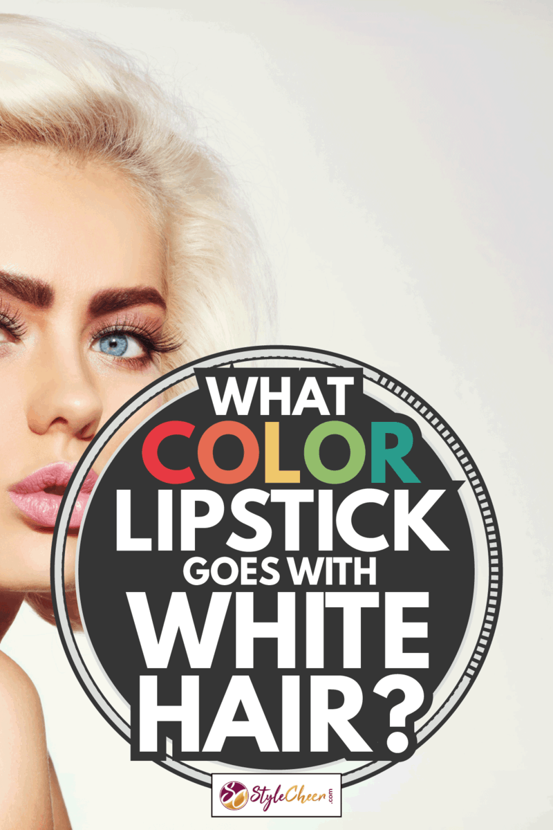 Vintage style portrait of young beautiful tanned sensual platinum blonde girl with stylish make-up and hairdo. What Color Lipstick Goes With White Hair